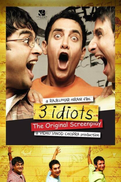 3 Idiot movie poster best movie for student to get inspiration