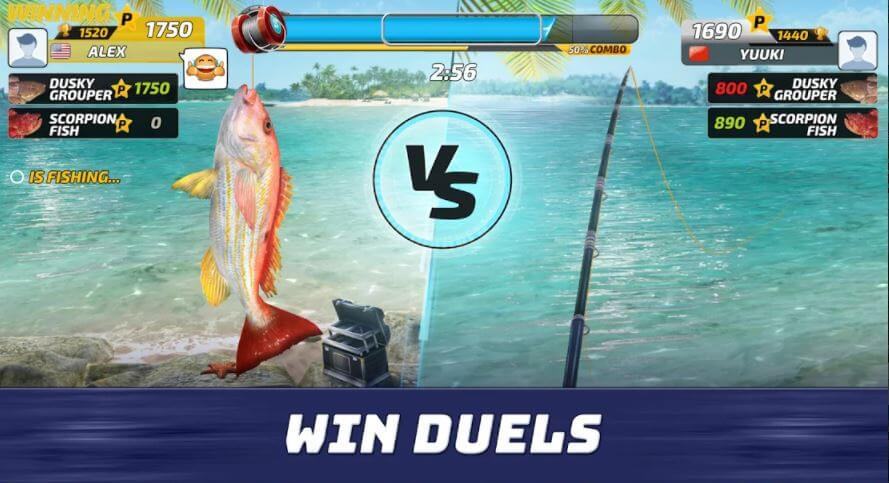 Fishing Clash day and night view